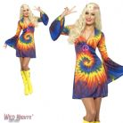 Ladies 1960's Hippy Tie Dye Dress